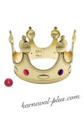 Корона для короля золотая, пластик