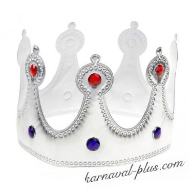 Корона Королева серебряная со стразами