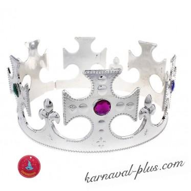 Корона короля серебро со стразами