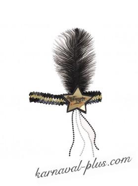 Повязка на голову в стиле Чикаго Звезда с пером