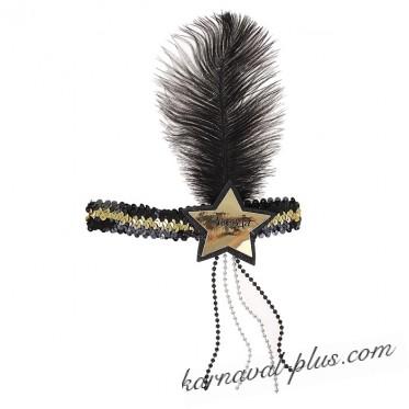 Повязка на голову Звезда с пером