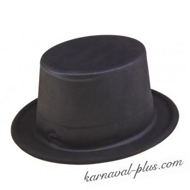 Шляпа Цилиндр черная, пластик