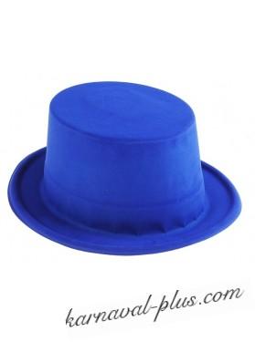 Шляпа Цилиндр синяя, пластик