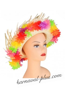 Шляпа гавайская Яркие цветы