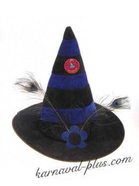 Шляпа карнавальная Конус с перьями