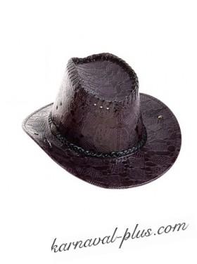 Шляпа Ковбой для девушки с тесьмой под крокодил