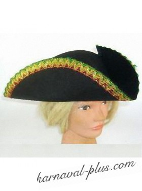 Шляпа Треуголка с золотой каймой