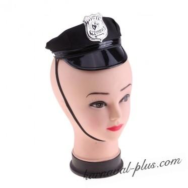 Шляпка-мини на резинке Полицейская