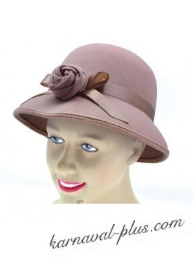 Шляпка женская 20-х годов плюш