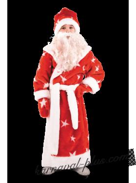 Костюм Дед Мороз детский, мех