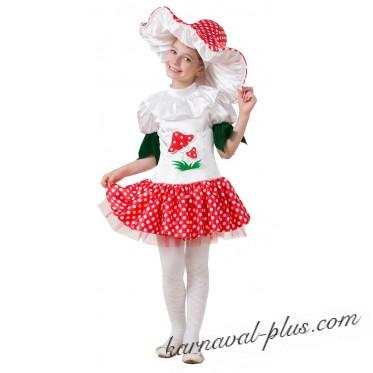 Карнавальный костюм Грибок-девочка