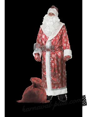 Дед Мороз , красный сатин
