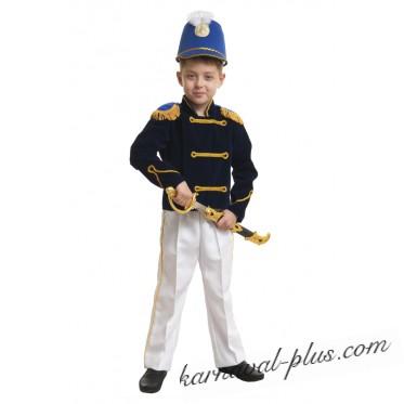 Карнавальный костюм Гусар синий