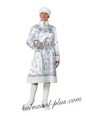 Карнавальный костюм Снегурочка, сатин