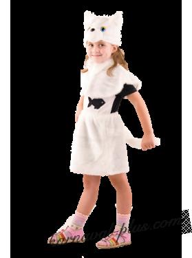 Карнавальный костюм Кошка белая
