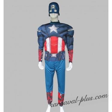 Костюм Капитан Америка для взрослого