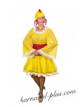 Карнавальный костюм Курочка Наседка женский