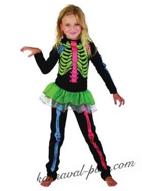 Карнавальный костюм Скелет цветной