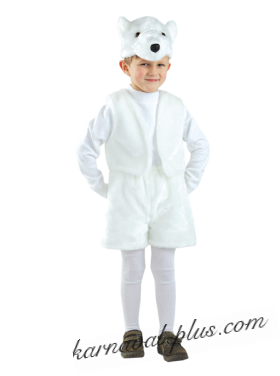 Карнавальный костюм Медведь белый