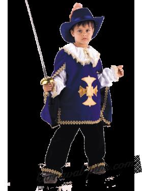 Мушкетер (синий) детский, бархат