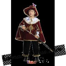 Мушкетер (бордо) детский, бархат