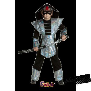 Карнавальный костюм Ниндзя серебряный