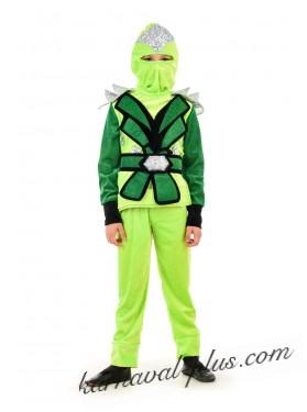 Карнавальный костюм Ниндзяго Зейн (зеленый цвет)