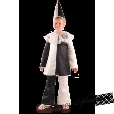 Карнавальный костюм Пьеро, бархат