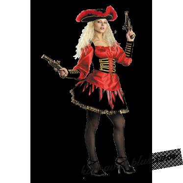 Карнавальный костюм Пиратка Бархат Взр.