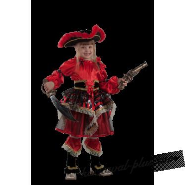 Детский костюм Пиратка красная