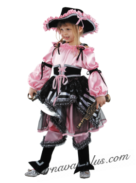 Детский костюм Пиратка розовая