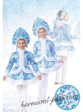 Костюм Снегурочка Гжель, детский