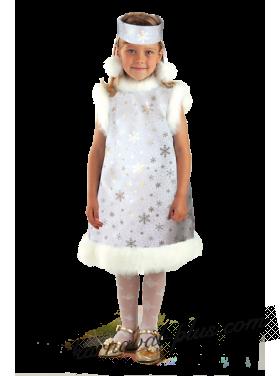 Карнавальный костюм Снежинка, синий/белый