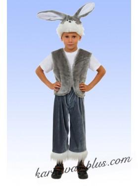Карнавальный костюм Зайчик серый