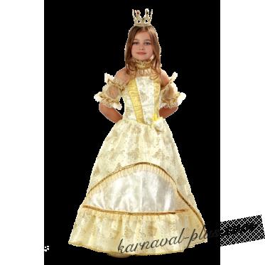 Карнавальный костюм Золушка-Принцесса золотая