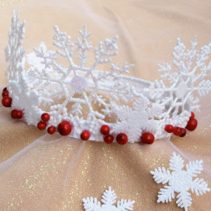 Корона снежинки своими руками