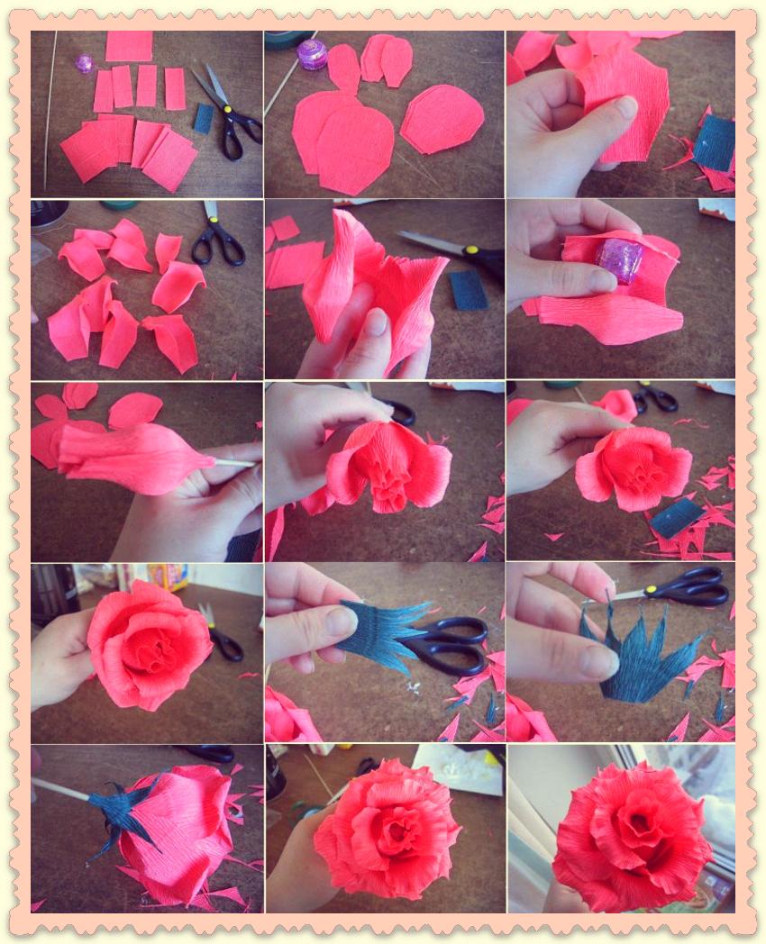 Конфетные цветы из гофрированной бумаги