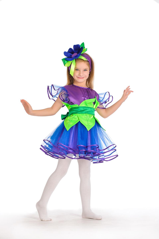 Как сделать костюм василька для девочки своими руками
